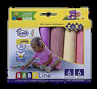 Крейда 6 кольорів Jumbo BABY Line, Zibi (16)