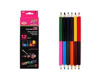 Олівці двухсторонні 6 шт 12 кольорів MAXI Happyness VGR