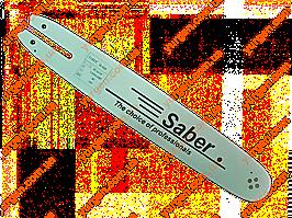 Шина для бензопил Saber, 14 дюймів, 50 зв., 1,3 мм..