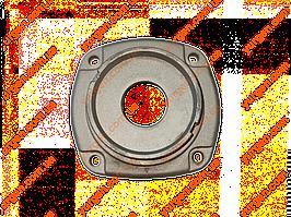 Крышка корпуса редуктора (фланец) для болгарки ИНТЕРСКОЛ УШМ-180/1800М.