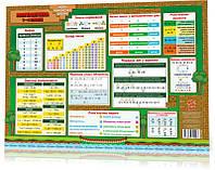 Килимок навчальний Математика 1-4 А3 Зірка