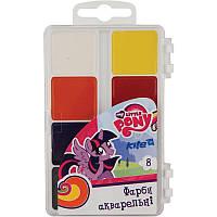 Фарби акварельні 8 кольорів My Little Pony, KITE