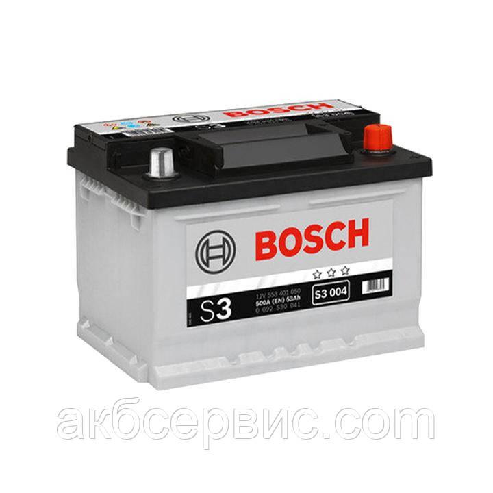 Акумулятор автомобільний Bosch 6СТ-53 S3 (S30 041)
