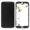Дисплей (екран) для Motorola XT1620 Moto G4/XT1621/XT1622/XT1624/XT1625/XT1626 + тачскрін, чорний, з передньої