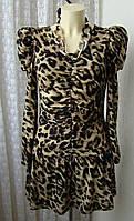 Платье женское теплое модное стрейч бренд Me fashion р.44 4863