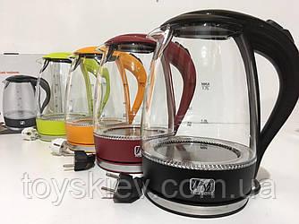 Чайник стеклянный PROMOTEC PM-810 White (6шт/ящ)