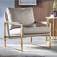Мягкое кожаное кресло. Модель RD-9063 Серый