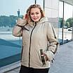 Куртки батал жіночі весна-осінь великі розміри 50-60 срібло, фото 4