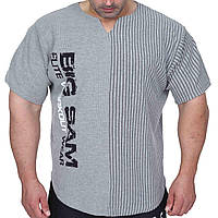 Big Sam, Размахайка Relaxed Fit Training T-Shirt Gray 3265, Сірий, 2XL, фото 1