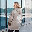 Куртки батал жіночі весна-осінь великі розміри 48-62 фісташковий, фото 2