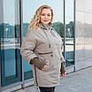 Куртки батал жіночі весна-осінь великі розміри 48-62 фісташковий, фото 4