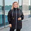 Куртки батал жіночі весна-осінь великі розміри 48-62 фісташковий, фото 5