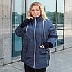 Куртки батал жіночі весна-осінь великі розміри 48-62 фісташковий, фото 6