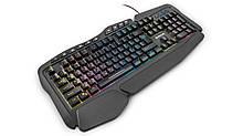 Клавиатура проводная USB Real-El Gaming 8900 RGB Macro игровая с подсветкой чёрная новая