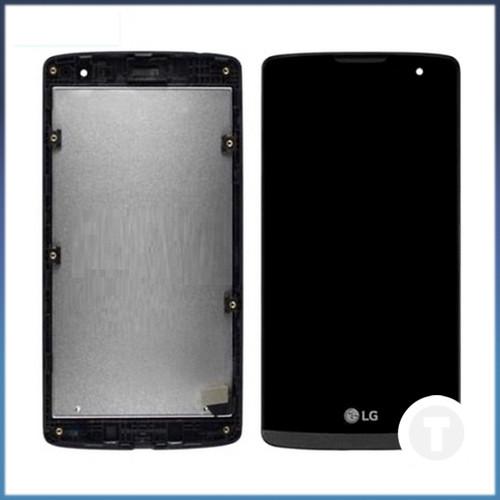 Дисплей (экран) для LG H320 Leon Y50/ H324 Leon Y50/ H340 Leon с сенсором/ тачскрином (Модуль) черный с рамкой