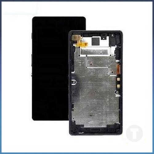 Дисплей (экран) для Sony D6563 Xperia Z2a с сенсором/ тачскрином (Модуль) черный с рамкой (передней панелью)