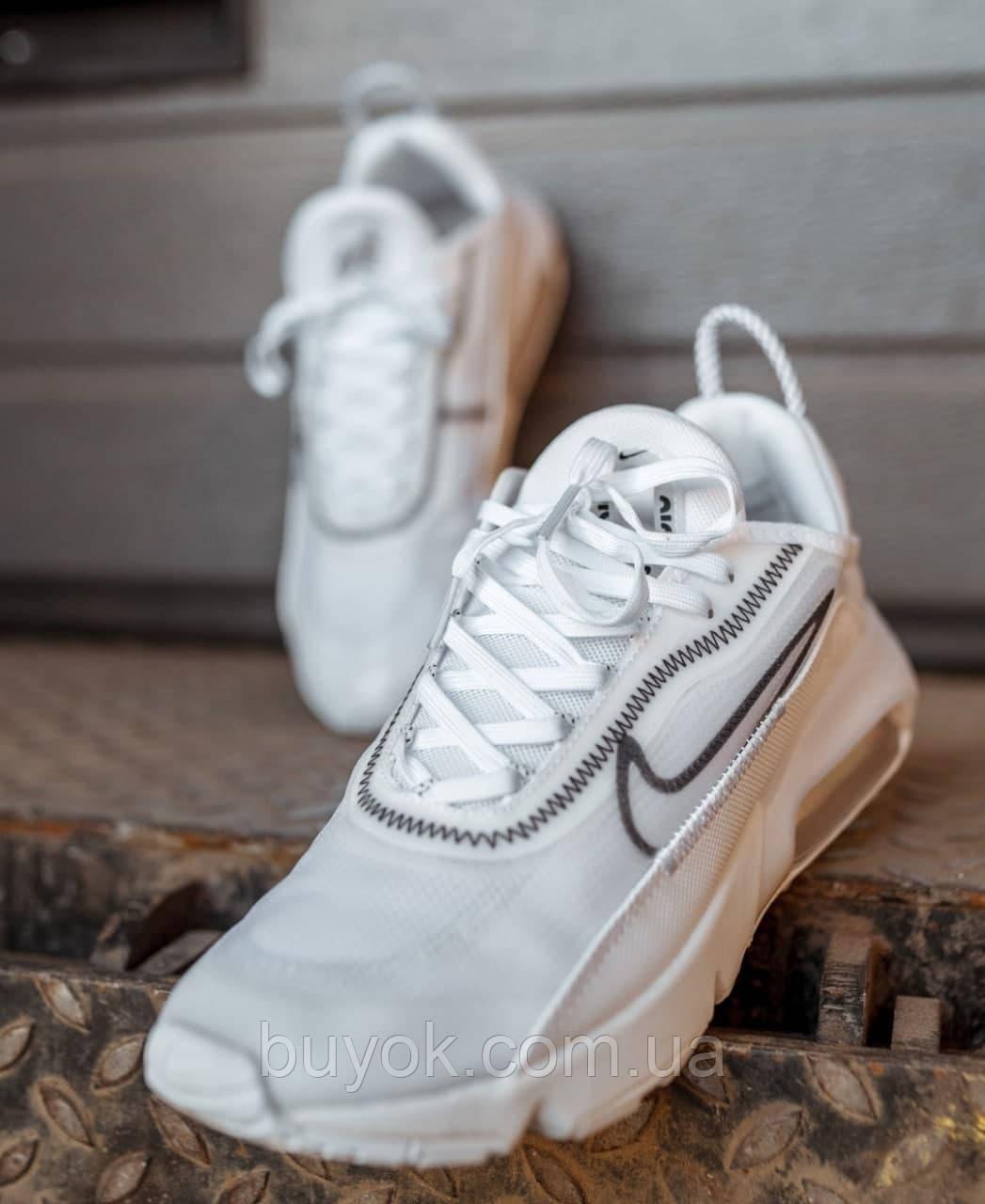 Женские кроссовки Nike Air Max 2090 White Black White CK2612-100