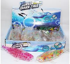 ОПТ!! Антистресс игрушка Акула с цветными орбиз  12 шт в уп.
