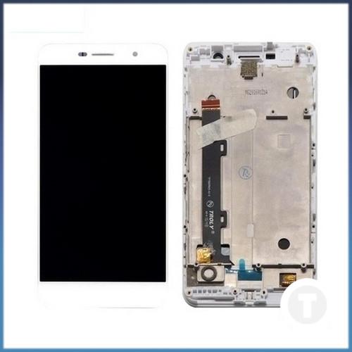 Дисплей (екран) для Huawei Y6 Pro (TIT-U02/ TIT-AL00)/ Enjoy 5/ Honor Play 5X з сенсором / тачскріном (Модуль) білий з рамкою