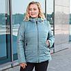 Куртки женские демисезонные больших размеров    50-60  бежевый, фото 5