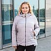 Куртки батал женские весна-осень  большие размеры   50-60  бирюзовый, фото 2