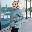 Куртки батал женские весна-осень  большие размеры   50-60  бирюзовый, фото 6