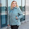 Куртки батал женские весна-осень  большие размеры   50-60  бирюзовый, фото 7