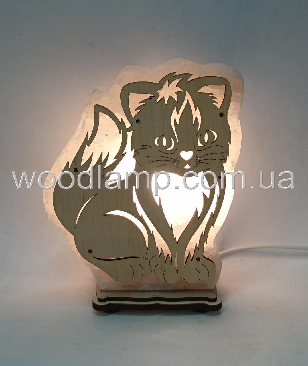 Соляной светильник Кот большой