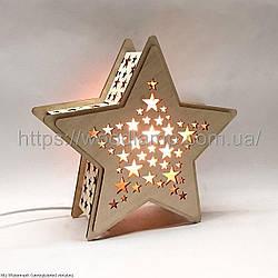 Соляной светильник Деревянный Звезда