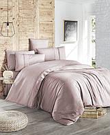 Комплект постельного белья First Choice Ranforce Deluxe Gala Powder хлопок 200-220 см розовый