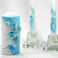 Свадебные свечи Семейный очаг  Бирюзовые