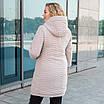 Куртки батал жіночі весна-осінь великі розміри 50-60 бежевий, фото 3