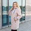 Куртки батал жіночі весна-осінь великі розміри 50-60 бежевий, фото 2