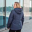 Куртки батал жіночі весна-осінь великі розміри 50-60 чорний, фото 5
