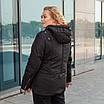 Куртки батал жіночі весна-осінь великі розміри 50-60 чорний, фото 3
