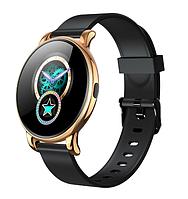 Смарт-часы B37 с музыкальным управлением, 8 спортивных режимов черные с золотым корпусом