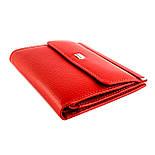Маленький жіночий гаманець з натуральної шкіри Desisan 105-4 червоний, фото 2