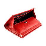Маленький жіночий гаманець з натуральної шкіри Desisan 105-4 червоний, фото 5