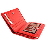 Маленький жіночий гаманець з натуральної шкіри Desisan 105-4 червоний, фото 6
