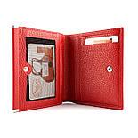 Маленький жіночий гаманець з натуральної шкіри Desisan 105-4 червоний, фото 7