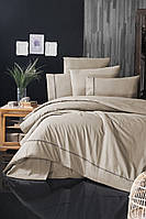Комплект постельного белья First Choice Ranforce Deluxe Alisa Ecru хлопок 200-220 см кремовый