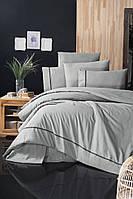 Комплект постельного белья First Choice Ranforce Deluxe Alisa Grey хлопок 200-220 см серый