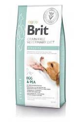 Brit GF VetDiets Dog Struvite 12 кг при мочекаменной болезни с яйцом, индейкой, горохом и гречкой ПОРЕЗ 4 см