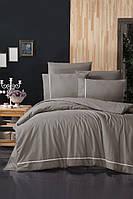 Комплект постельного белья First Choice Ranforce Deluxe Alisa Mink хлопок 200-220 см бежевый