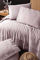 Комплект постельного белья First Choice Ranforce Deluxe Alisa Powder хлопок 200-220 см розовый