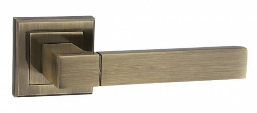 """Дверная ручка MVM  """"GROTTI""""  a-2004 никель/хром и бронза."""