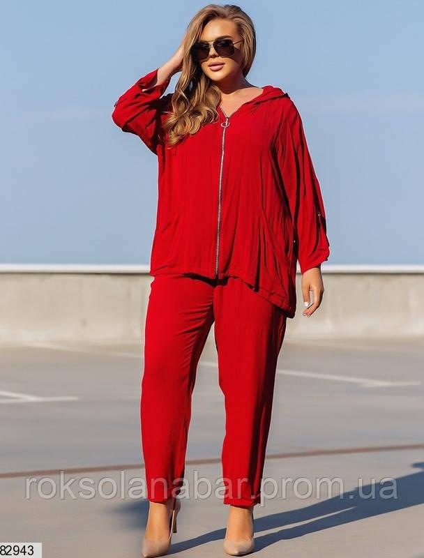 Красный летний спортивный костюм XL