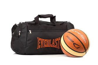 Спортивная черная сумка Everlast (Оранжевая)