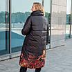 Пальто зимние женские  больших размеров   48-56 черный, фото 6