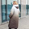 Пальто зимние женские  больших размеров   48-56 черный, фото 5